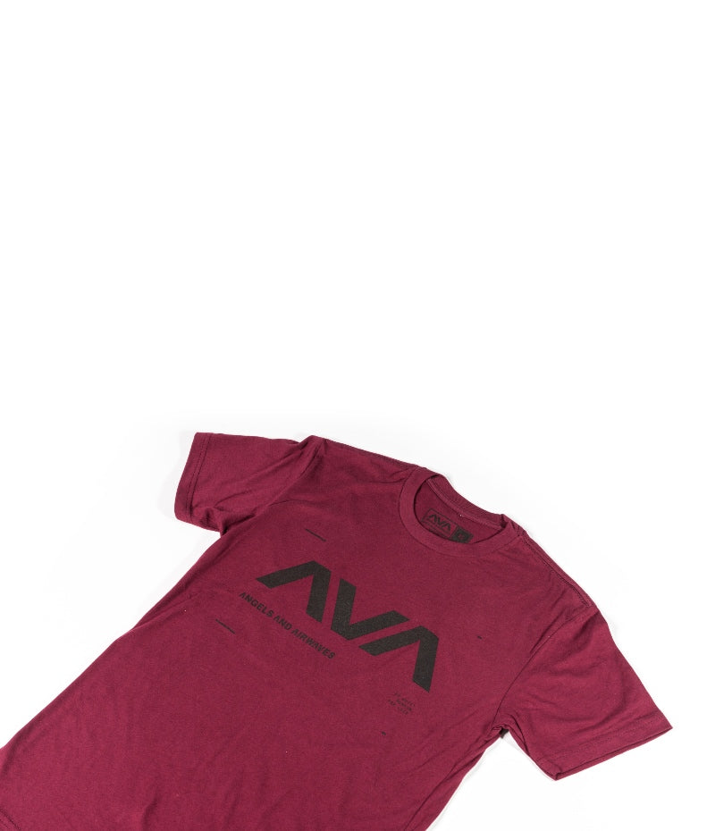 Data T-Shirt Maroon/Black