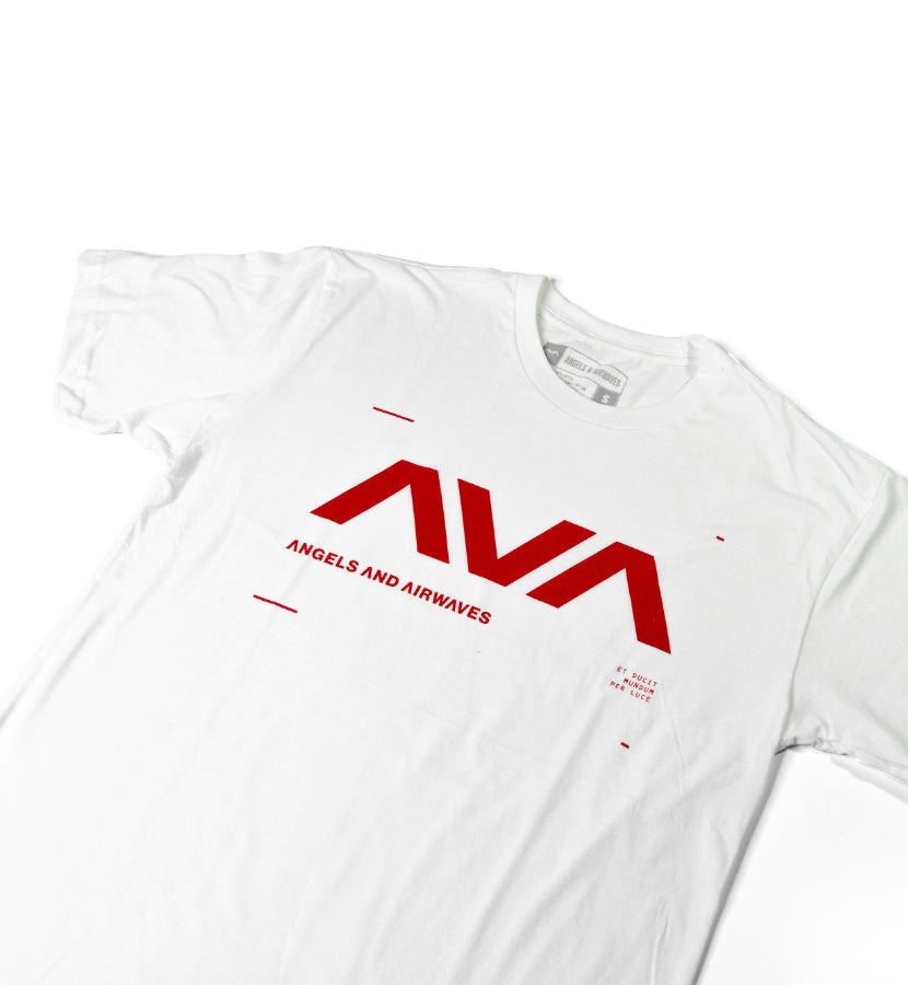 Angels and Airwaves Data T-Shirt White/Red - To The Stars...
