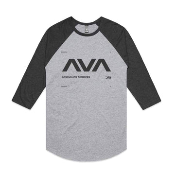 Angels & Airwaves Data Unisex Raglan Heather Grey/Asphalt | ToTheStars.Media