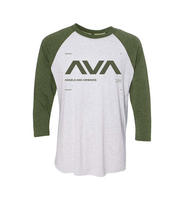 Data Unisex Raglan White/Heather Olive