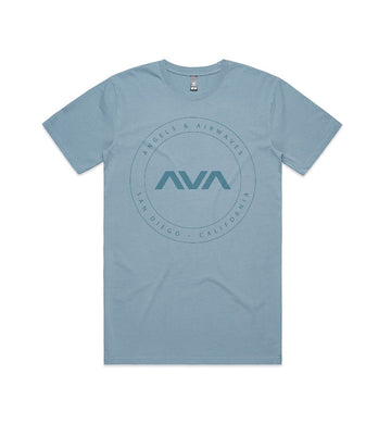 EDMPL Circle Faded T-Shirt Teal Filled