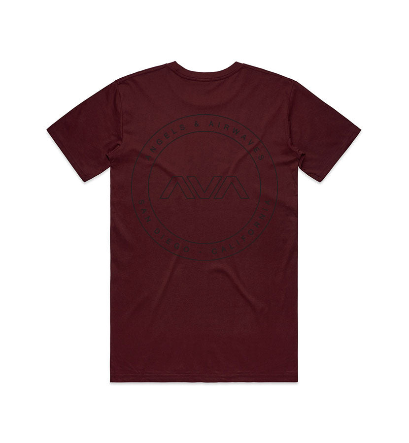 Angels and Airwaves EDMPL T-Shirt Burgundy Back