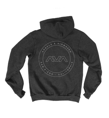 Angels and Airwaves EDMPL Unisex Zip-Up Hoodie Heavy Metal Back