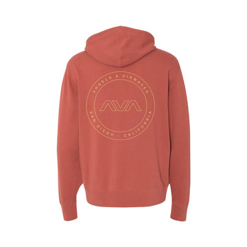 Angels and Airwaves EDMPL Unisex Zip-Up Hoodie Rust | ToTheStars.Media