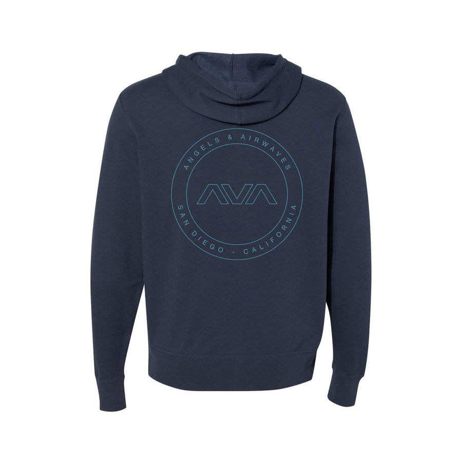 Angels and Airwaves EDMPL Unisex Zip-Up Hoodie Slate Blue | ToTheStars.Media