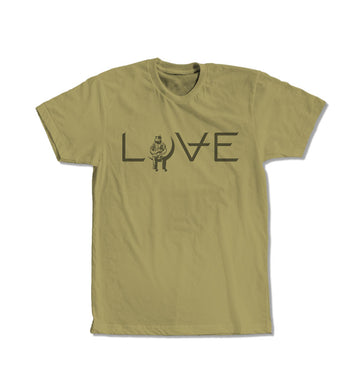 Love Movie T-Shirt Light Olive/Olive
