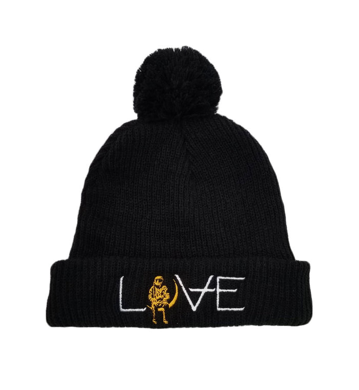 Angels and Airwaves LOVE Movie Pom Beanie Black/Gold - To The Stars...