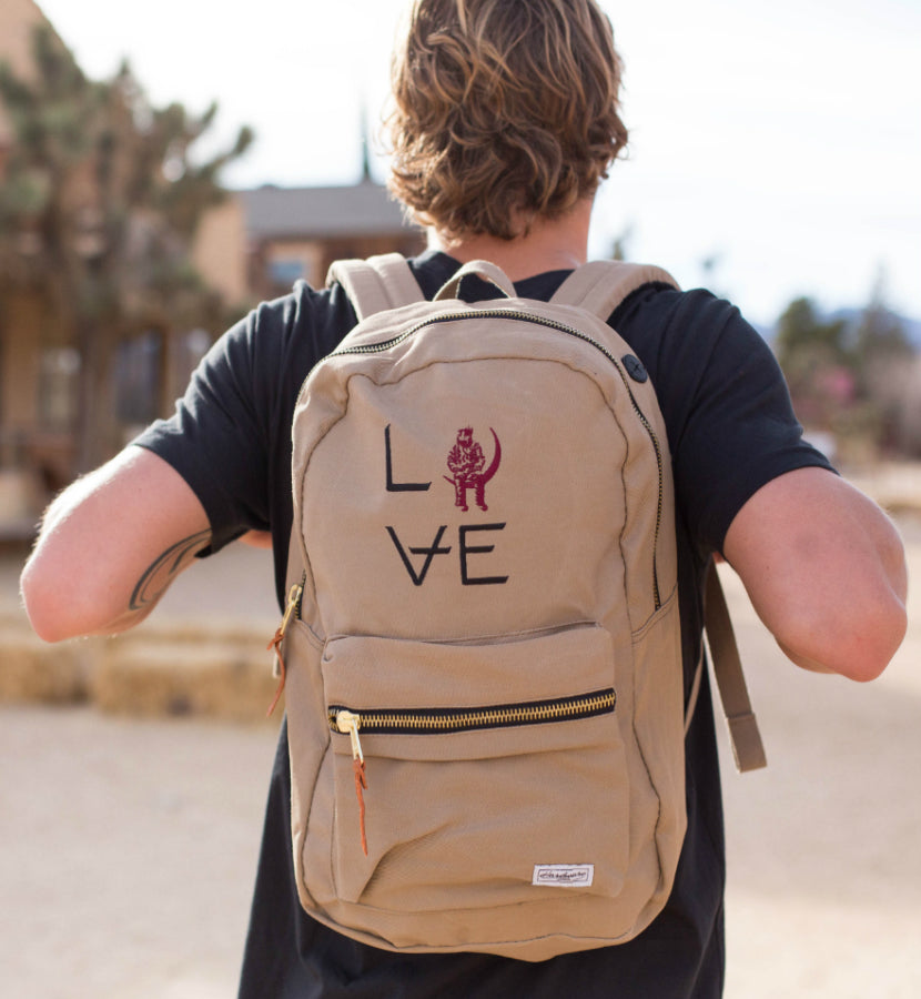 Angels and Airwaves Love Stacked Khaki Backpack - To The Stars...
