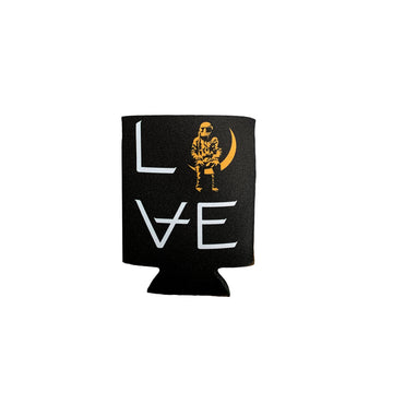 LOVE Stacked Koozie Black