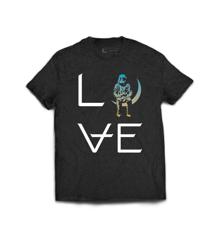Love Stacked T-Shirt Black/Sunset