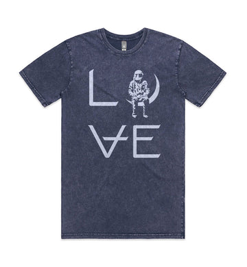 Love Stacked T-Shirt Blue Storm