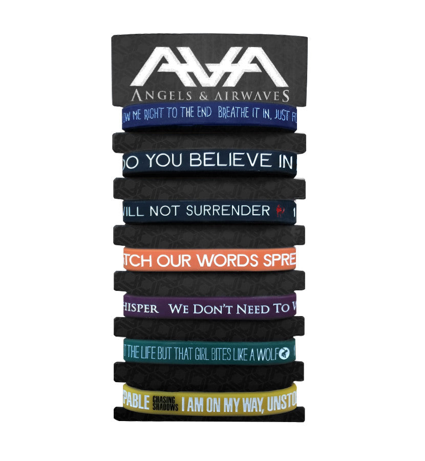 Angels and Airwaves Lyric Bracelet Set - To The Stars...