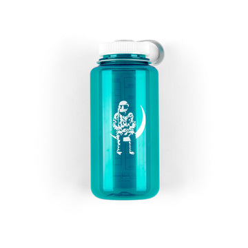Moon Man 32oz Wide Mouth Nalgene Trout Green