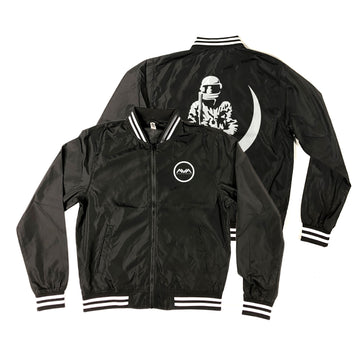 Moon Man Bomber Windbreaker Black/White | Angels and Airwaves