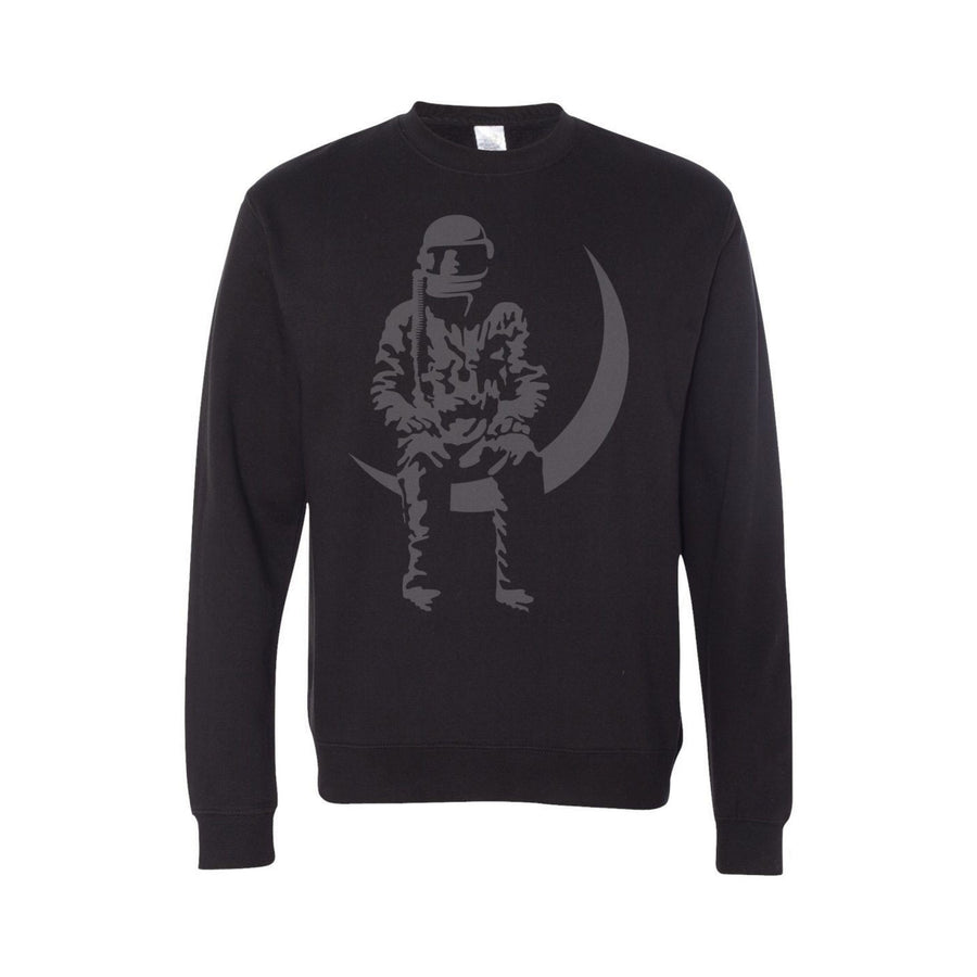 Moon Man Crewneck Sweatshirt Black/Grey