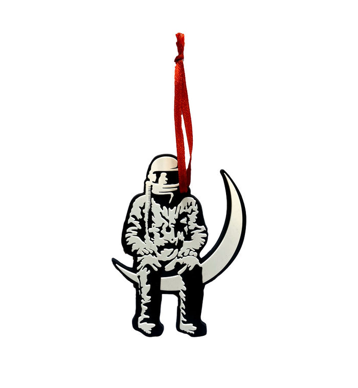 Moon Man Glow in the Dark Die Cut Ornament