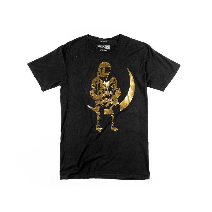 Moon Man Gold Foil T-Shirt Black