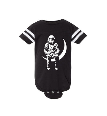 Angels and Airwaves Moon Man Infant Football Bodysuit Black/Sage