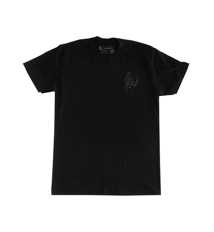Moon Man Liquid Black T-Shirt