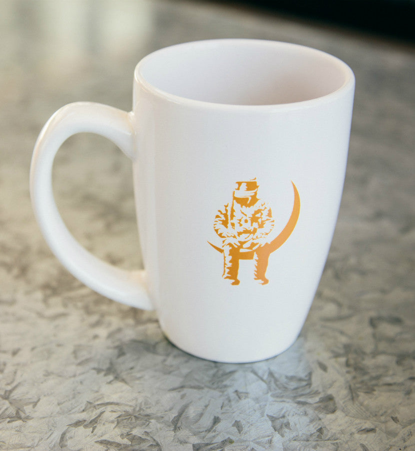 Angels and Airwaves Moon Man Mug White/Orange Back - To The Stars...