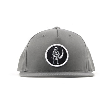 Moon Man Patch Snapback Hat Grey