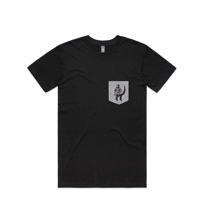 Angels and Airwaves Moon Man Pocket T-Shirt Black/Athletic Heather