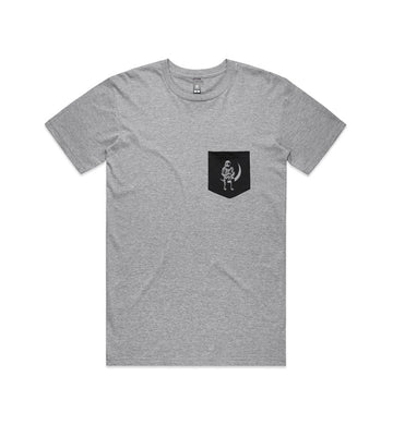 Moon Man Pocket T-Shirt Athletic Heather/Black