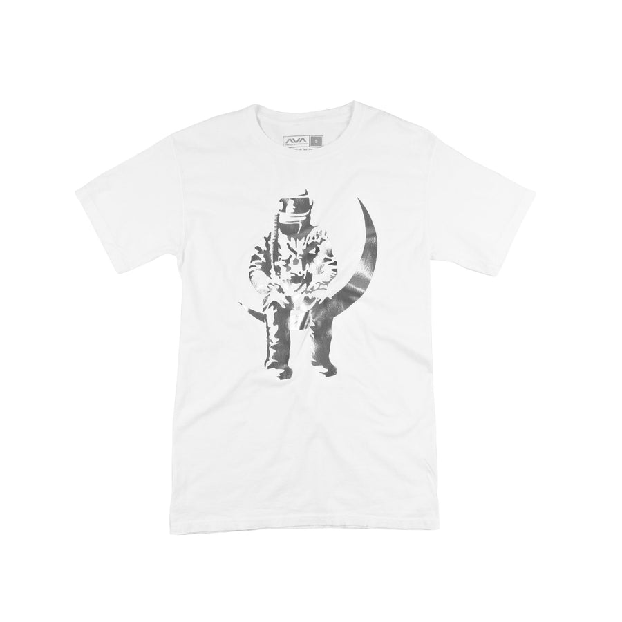 Moon Man Silver Foil T-Shirt White