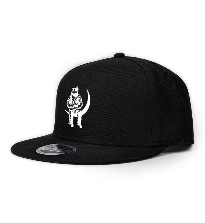 Angels and Airwaves Moon Man Snapback Hat Black/White - To The Stars...