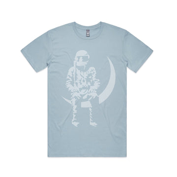 Moon Man T-Shirt Pale Blue