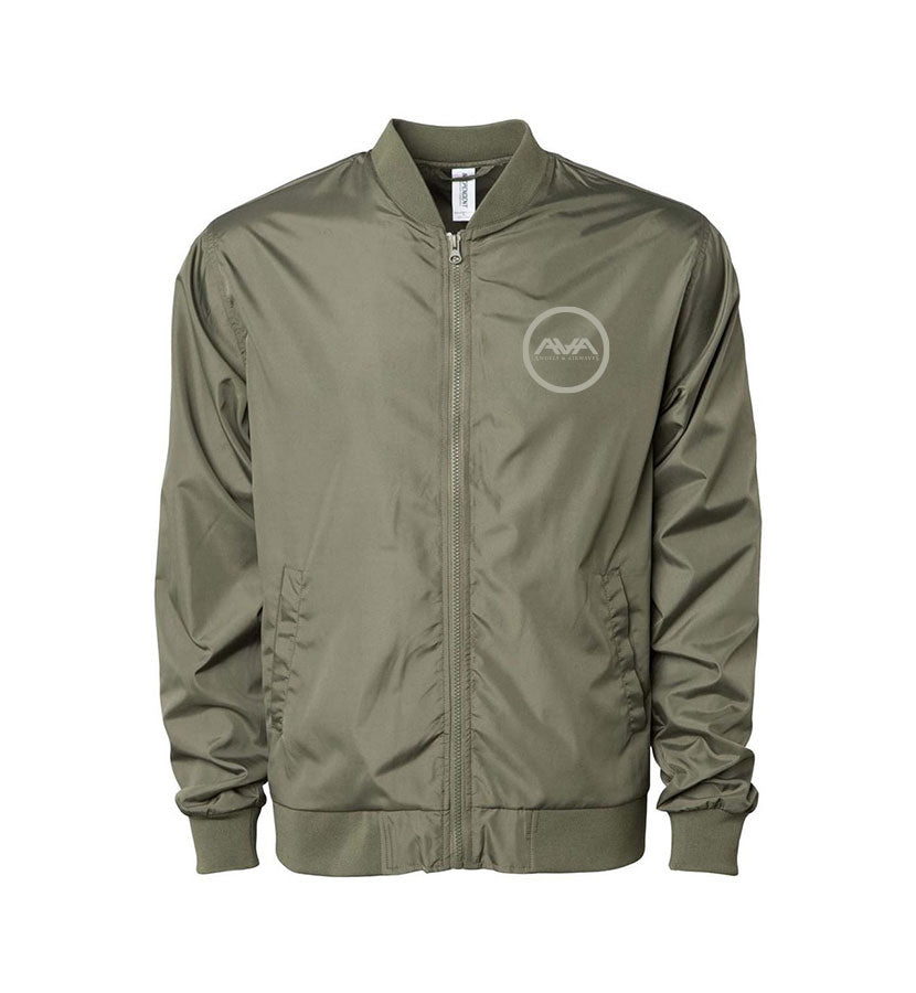 Moon Man Unisex Bomber Windbreaker Army
