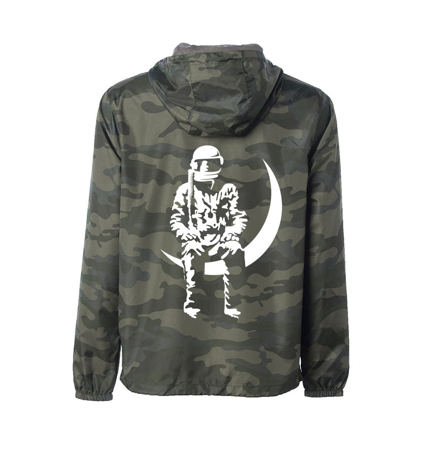Moon Man Unisex Hooded Windbreaker