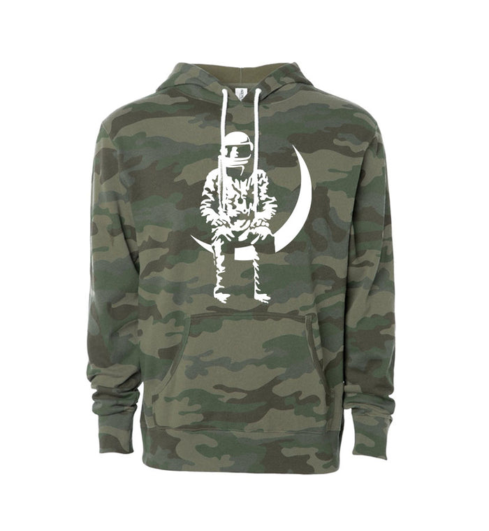 Angels and Airwaves Moon Man Unisex Pullover Hoodie Camo/White - To The Stars...