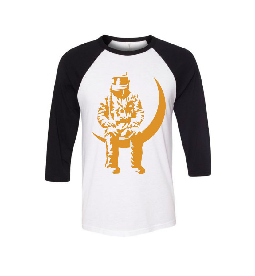 Angels and Airwaves-Moon Man Unisex Raglan-White/Black-x-small-To The Stars...