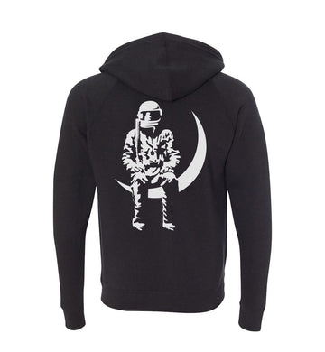 Angels and Airwaves Moon Man Unisex Zip-Up Hoodie Black - To The Stars...