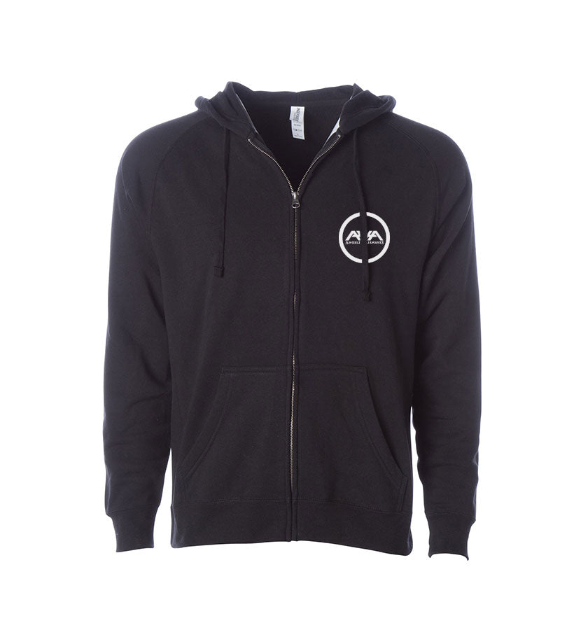 Angels and Airwaves Moon Man Unisex Zip-Up Hoodie Black Front - To The Stars...