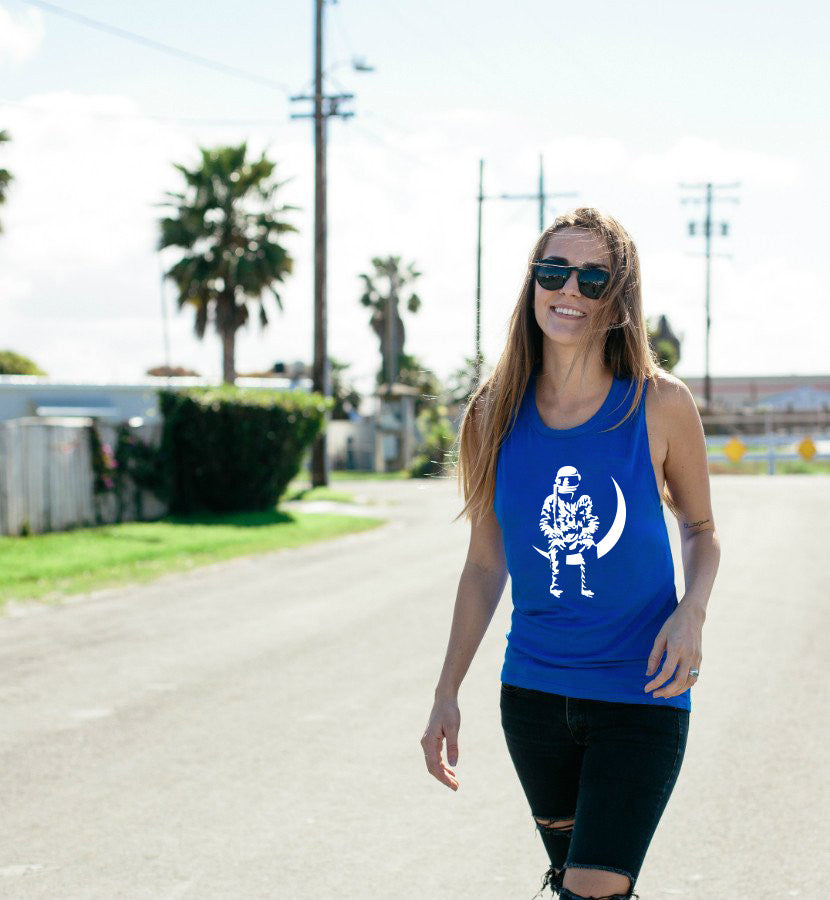 Angels and Airwaves Moon Man Women's Muscle Tank True Royal - Lifestyle - To The Stars...