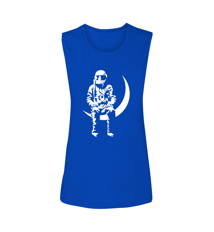 Angels and Airwaves Moon Man Women's Muscle Tank True Royal - To The Stars...