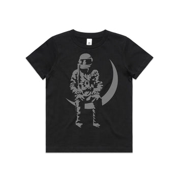 Moon Man Youth T-Shirt Black/Grey