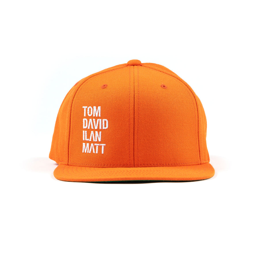 Names Snapback Orange/White