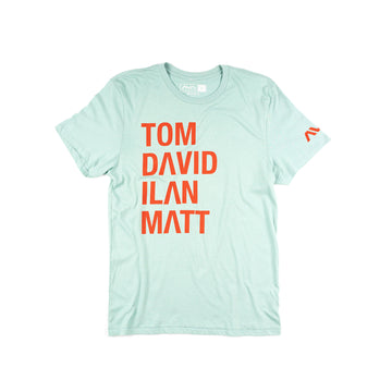 Names T-Shirt Faded Teal