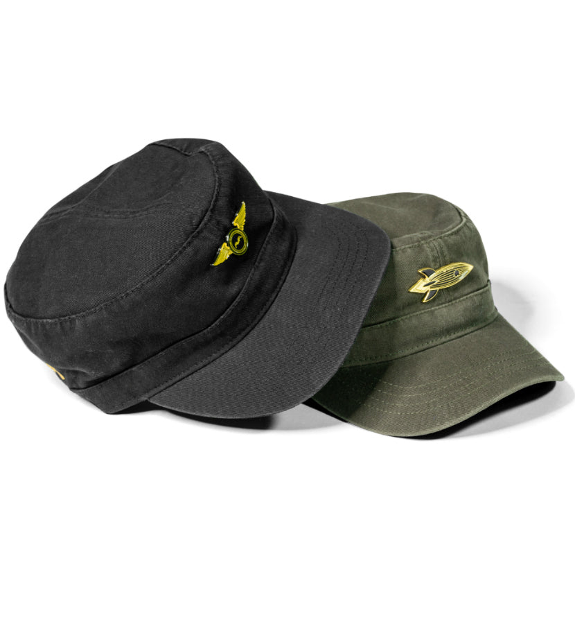 Pilot Wings Lapel Military Cap Black