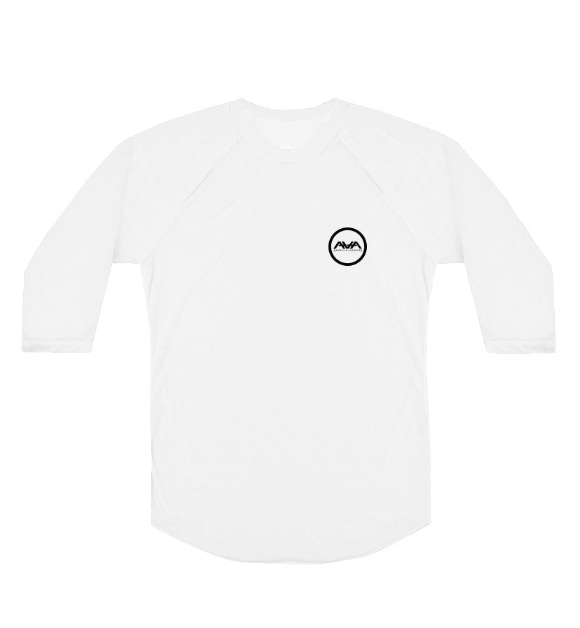 Angels and Airwaves Simple AVA Circle Logo Unisex Raglan White - To The Stars