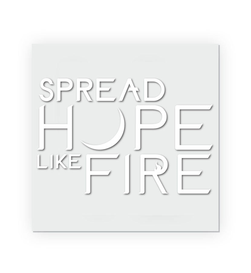 Angels and Airwaves Spread Hope Like Fire Transfer Sticker - To The Stars...