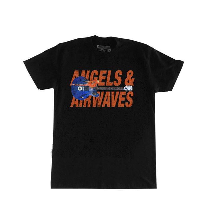 Angels and Airwaves Tom's Guitar T-Shirt Black/Orange - To The Stars...