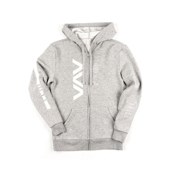 Vert Zip-Up Hoodie Light Grey