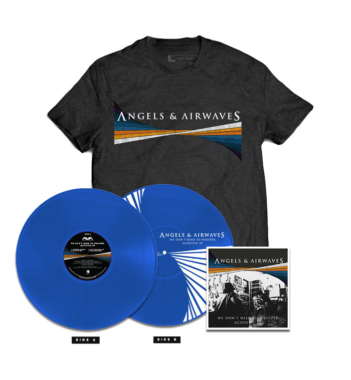 Angels and Airwaves We Don't Need To Whisper Acoustic EP 180g Blue LP + CD + Tee - To The Stars...