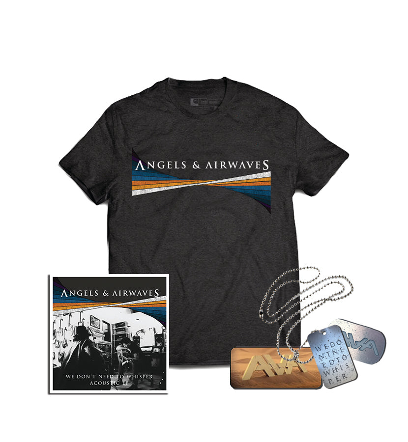 Angels & Airwaves We Don't Need To Whisper Acoustic EP + Dog Tag + T-Shirt - To The Stars...