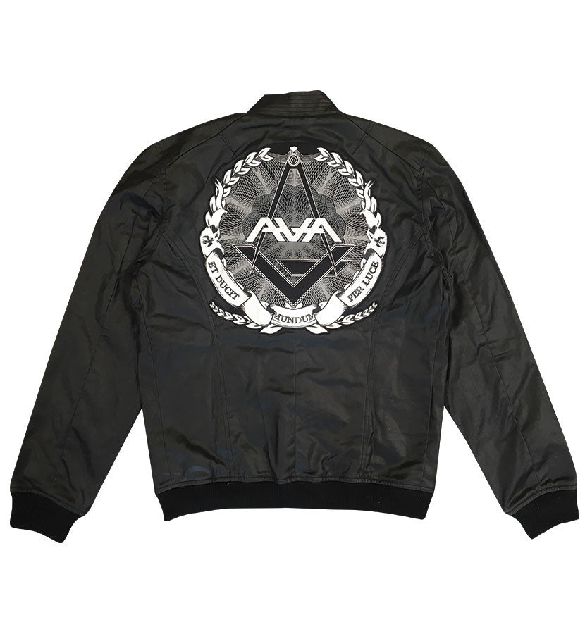 Angels and Airwaves Custom AVA Crest Flight Jacket Back - To The Stars...