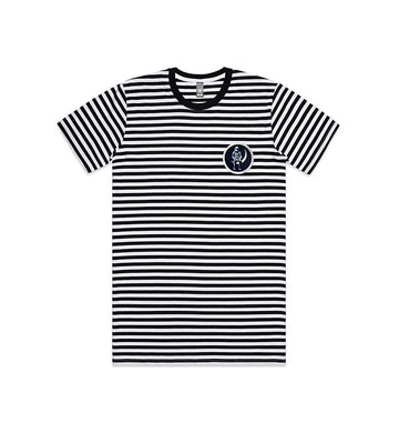 Angels and Airwaves Moon Man Patch Striped T-Shirt Black/White